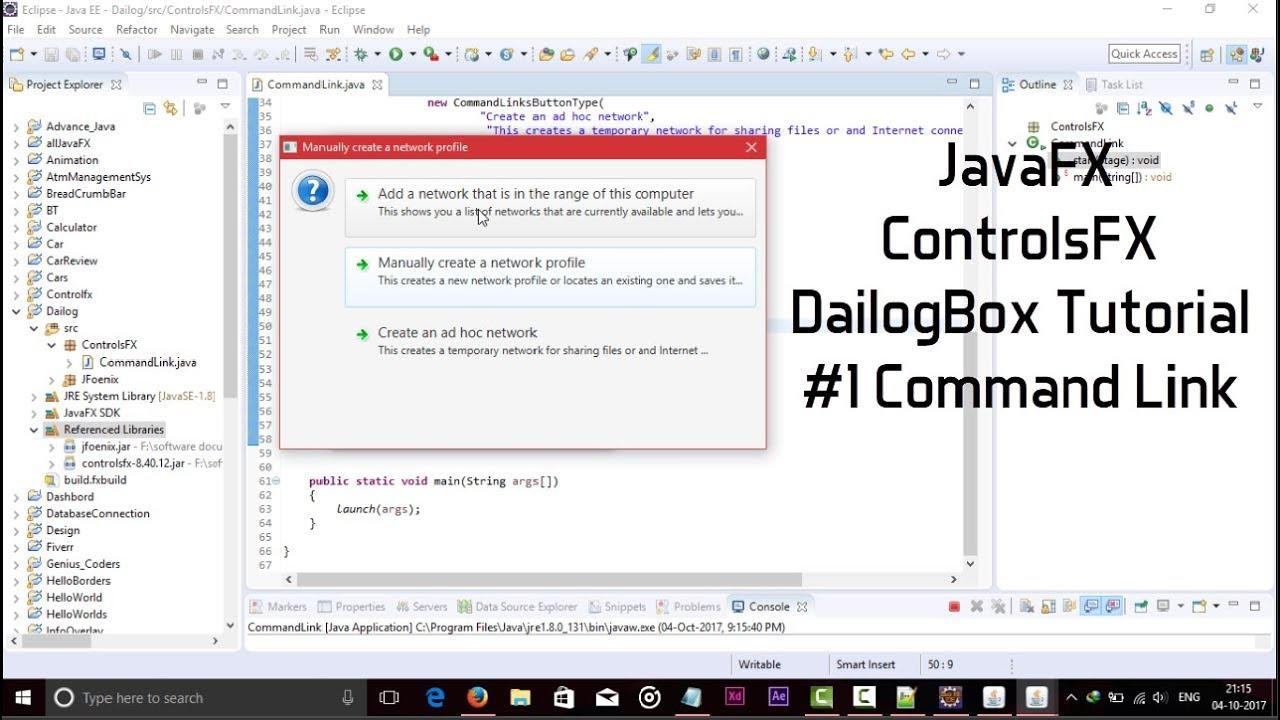 Dialog box java tutorial