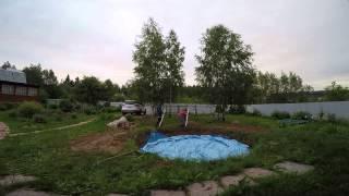 сборка бассейна видео