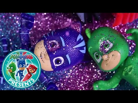 PJ Masks Creations - Toy Episode - Romeo's Glitter Town! | Cartoons for Children #48