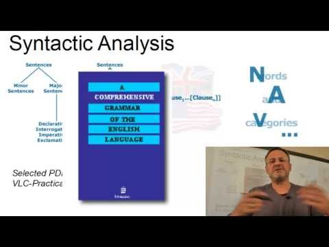 Syntax - The Formal Analysis of Sentences (VLC Series #1)