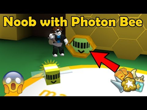 Noob With Photon Bee! Get 25 Bees In Less Than Hour!!!   Bee Swarm SImulator