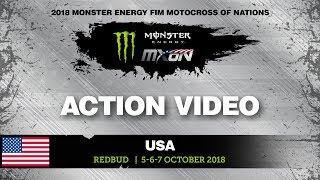Hunter Lawrence, Jorge Prado, Ben Watson Battle Monster Energy Motocross of Nations 2018
