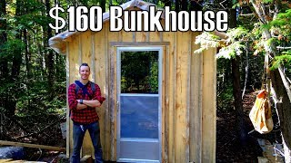 Heated Sawmill Bunk House Built For $160- Log Cabin Update- Ep 9.6
