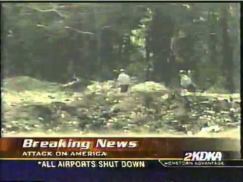 9/11/2001 news coverage, KDKA Pittsburgh & CBS News appx. 7:30 p.m.
