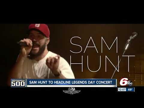 Country artist Sam Hunt headlining IMS Legends Day concert