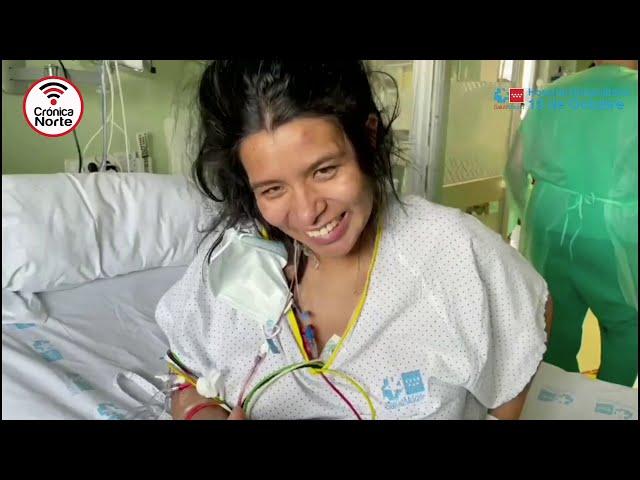 Vilma: La madre con COVID, que conoció a su bebé por videollamada a los 13 días de dar a luz.