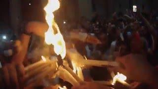 Благодатный огонь Иерусалим Схождение Благодатного Огня Holy Saturday Holy Fire 2014 2016  Jerusalem(Церемония начинается приблизительно за сутки до Воскрешения Спасителя и называется она литанией. В обед..., 2016-04-30T07:30:07.000Z)