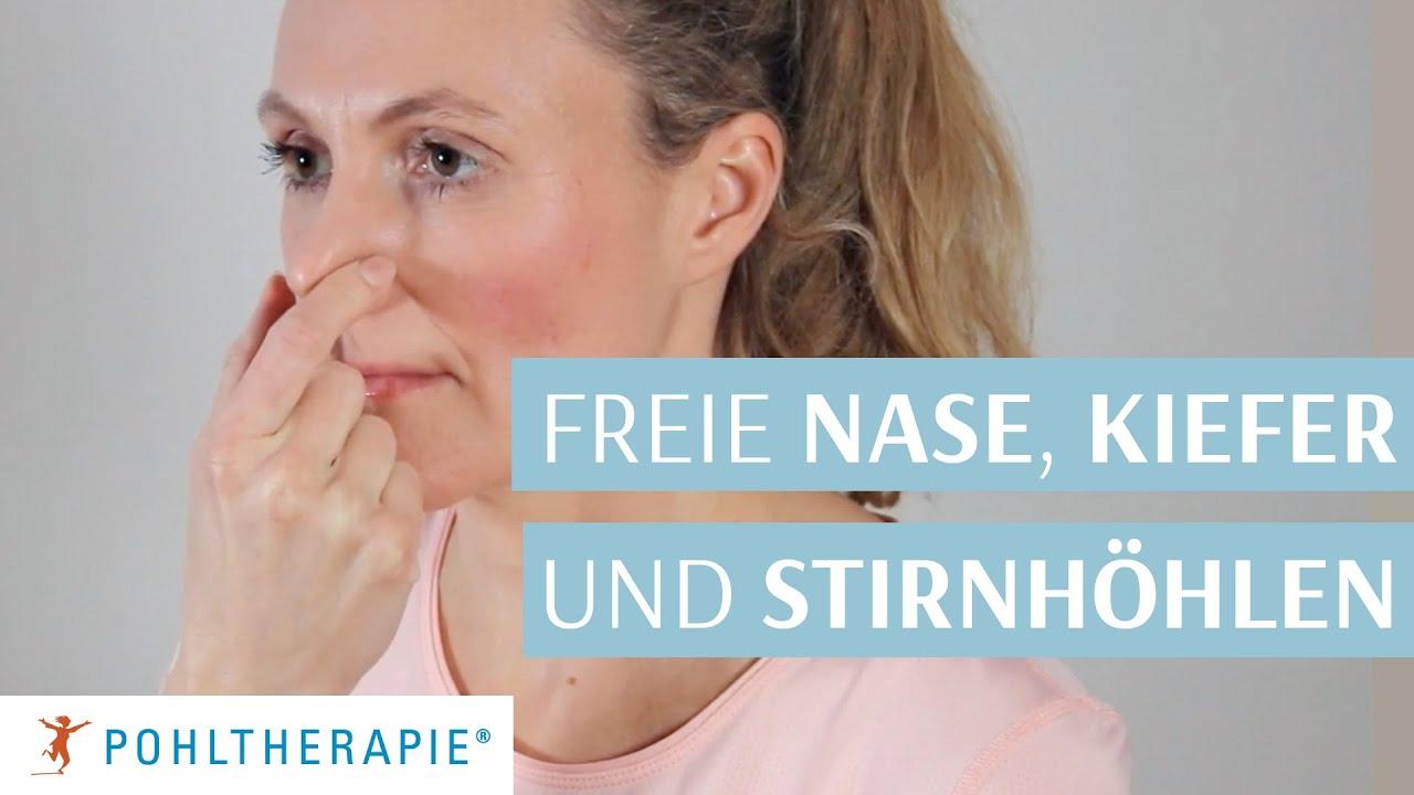 Übung für eine freie Nase, Kiefer und Stirnhöhlen