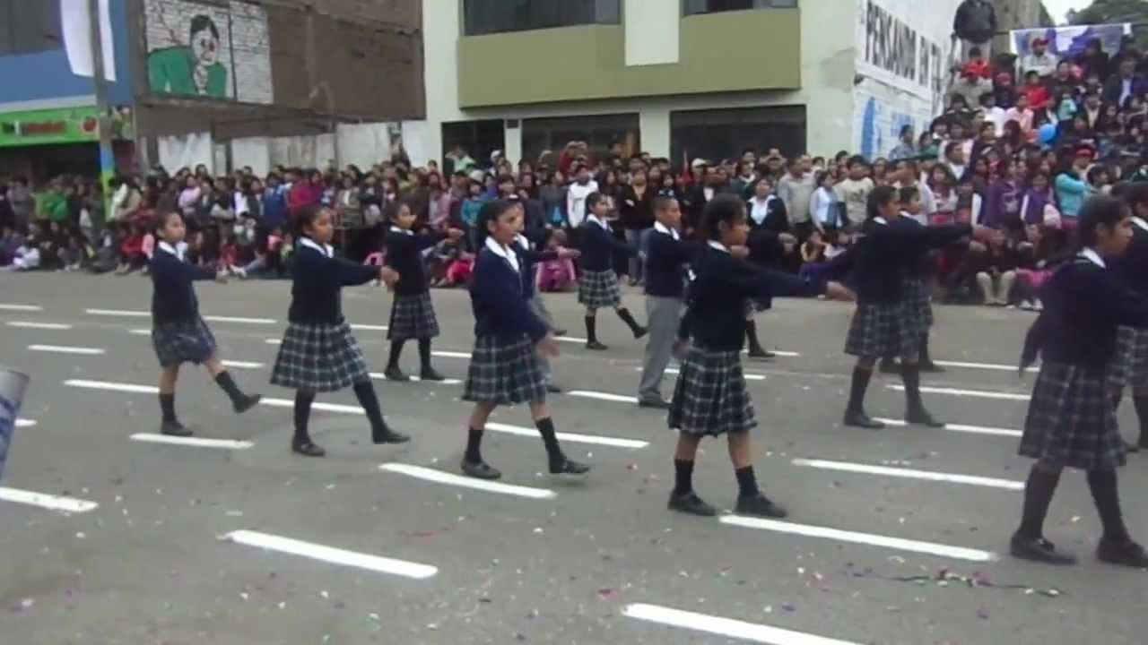 Colegio Quot Monitor Huascar Quot Desfile Escolar De Santa Anita