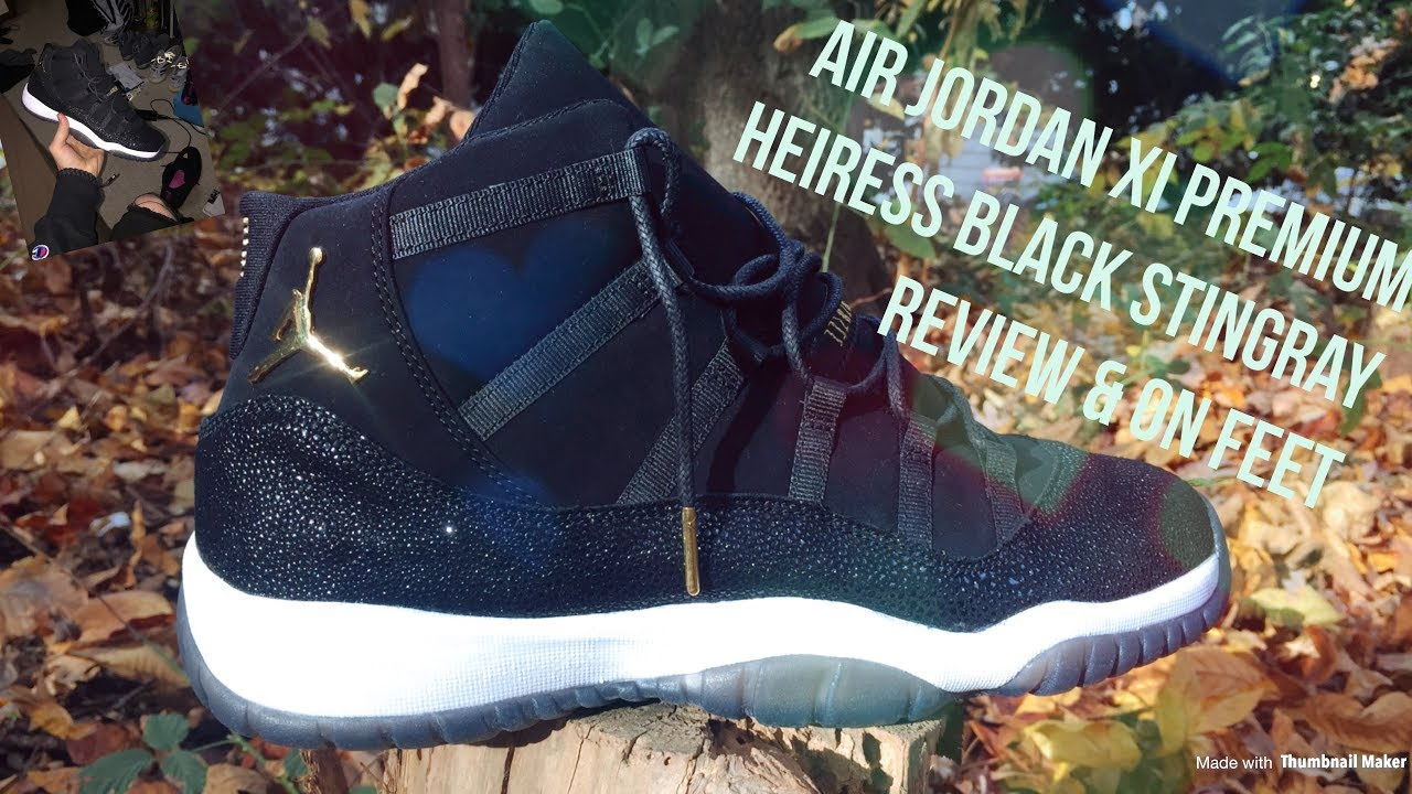 Air Jordan XI 11 Heiress Black Stingray Unboxing 306a6a974