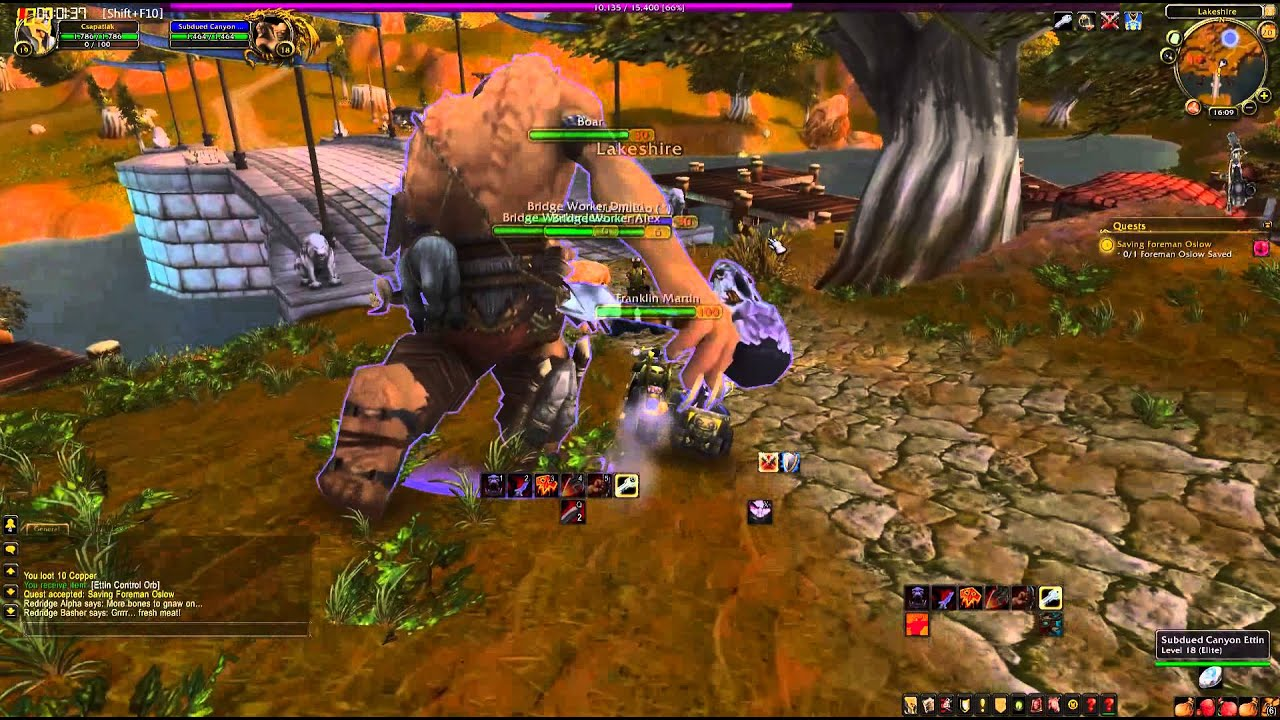 World of Warcraft Quest: Saving Foreman Oslow - YouTube