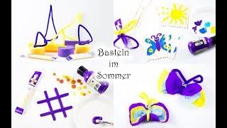Basteln mit Kindern: coole Bastelideen für den Sommer mit Cheestrings 💛💜