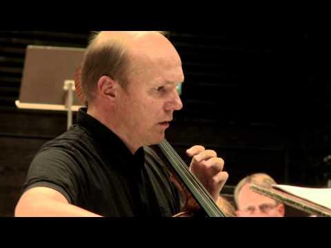 Truls Mørk recording Rautavaara's Cello Concerto No. 2 with  Helsinki Phil & John Storgårds