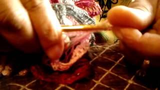 Easy way to Crochet Ribbon Yarn for ruffle scarfs