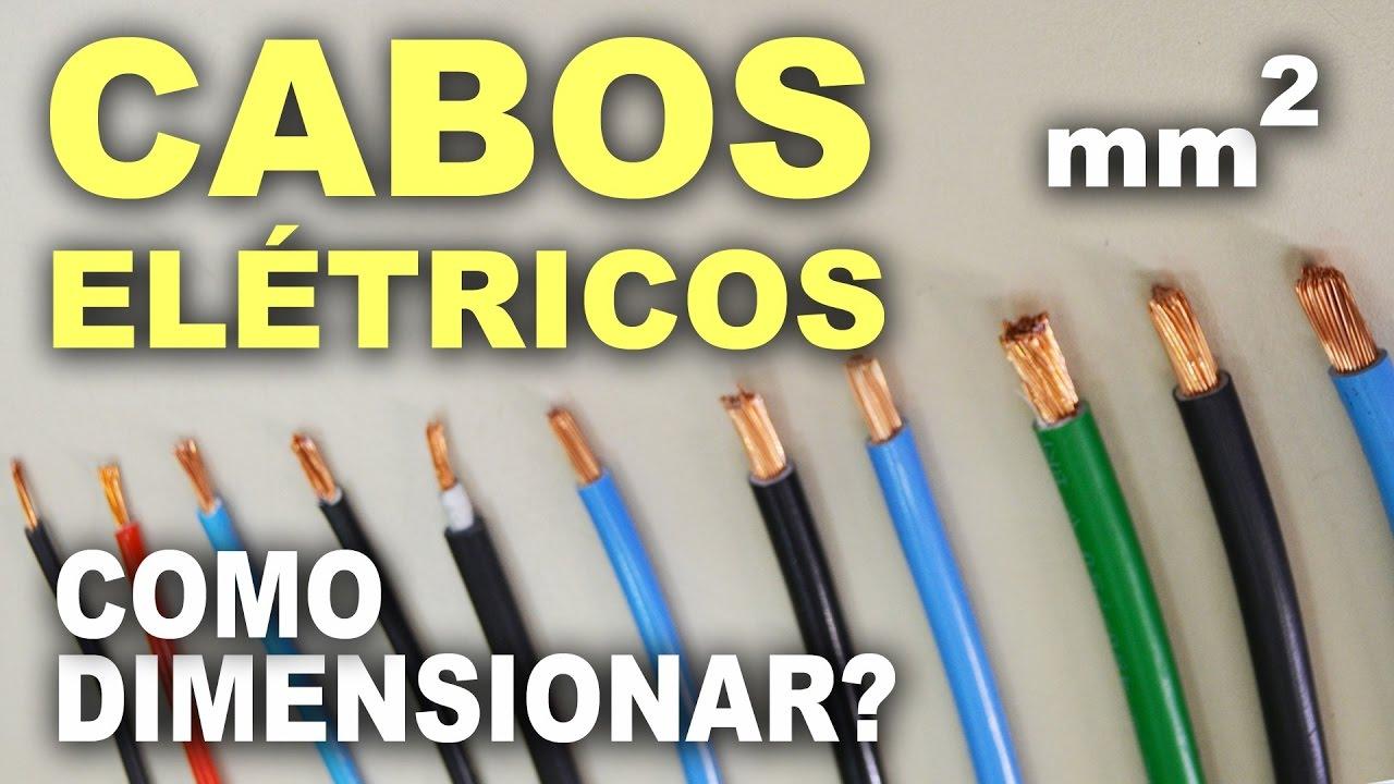 ac13fa47e Como dimensionar cabos elétricos residenciais! - YouTube