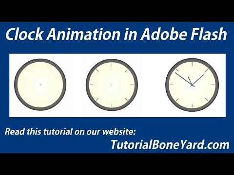 Animated Clock in Adobe Flash