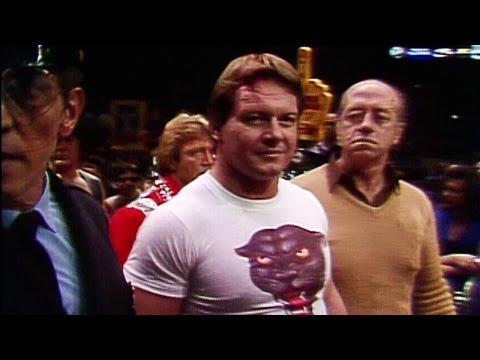 Roddy Piper makes his entrance at WrestleMania I