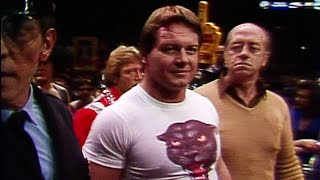 Roddy Piper makes his entrance at WrestleMania I