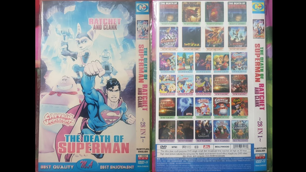 The Death Of Superman Rachet And Clank Captain Underpants The First Epic Movie Dvd Menu 2019 Youtube