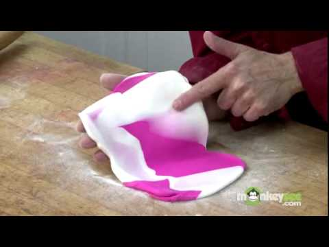 how to marbled fondant