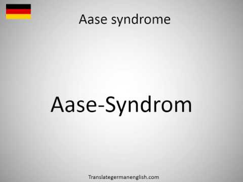 How to say Aase syndrome in German?