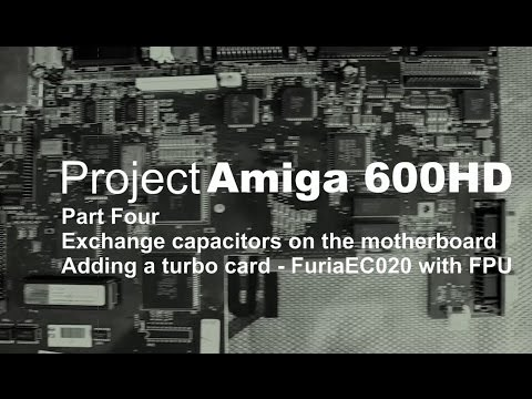 Project: Amiga 600 - part four, adding a turbo card - Furia EC020
