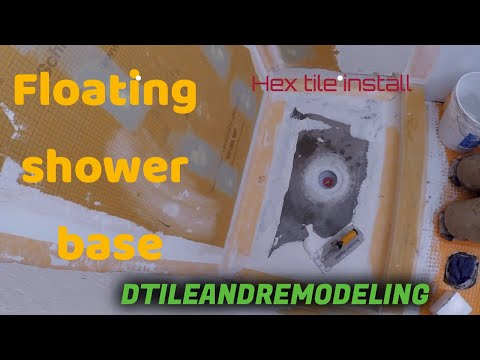 Mudding/floating a shower base/pan and Hex tile install Cranbury,NJ