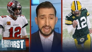 Bucs-Packers NFC Championship is biggest game for Rodgers in 6 yrs - Nick | NFL | FIRST THINGS FIRST