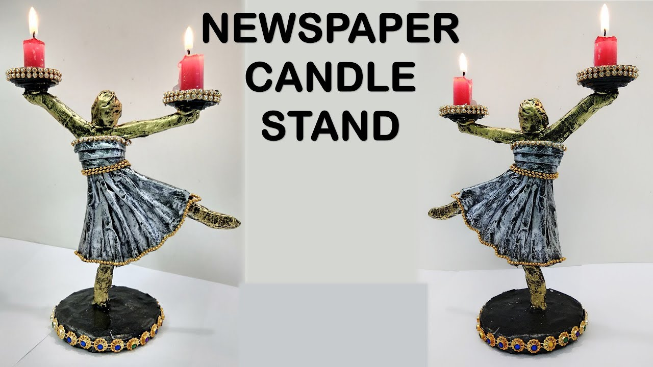 Newspaper Stand Designs : Diy christmas candle stand with newspaper
