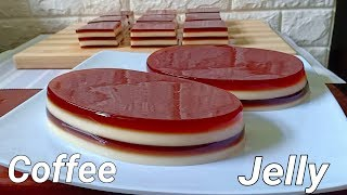 Coffee Jelly Layered | How to Make Coffee Jelly | Coffee Jelly