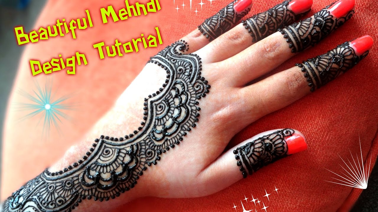 Apply Mehndi Hands : How to apply easy simple latest henna mehndi designs for