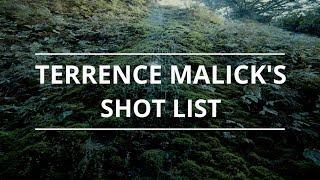 Terrence Malick Gibi bir Çekim Listesi Oluşturma
