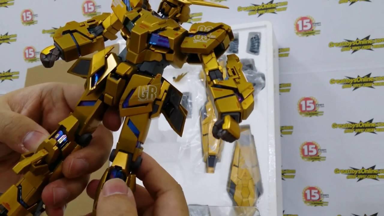 Quick Unboxing For Bandai Tamashii Metal Composite Rx 0 Unicorn Metalbuild Laevatein Veriv 17778 Gundam 03 Phenex Youtube