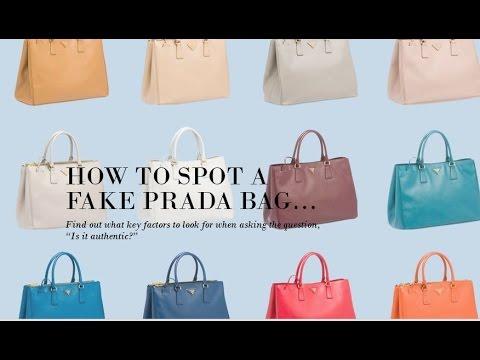 2ebb1c7cfd57fe How to Spot a Fake Prada Bag: The 5 Checks of Authenticity - YouTube