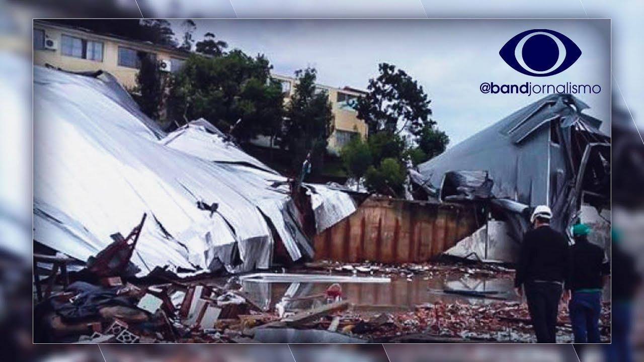 Ciclone bomba: imagens aéreas mostram rastro de destruição
