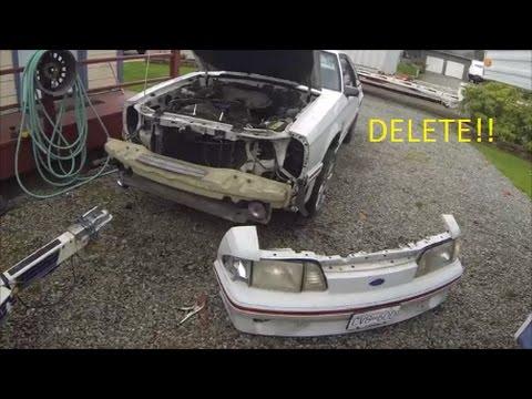 Foxbody Build Part 7 - New Wheels, Front Bumper Delete, and A/C Delete Part  1!