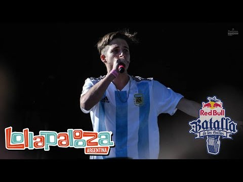 WOS hace un INCREÍBLE FREESTYLE en #RedBull Lollapalooza Argentina 2018