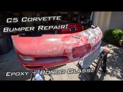 C5 Corvette Front Bumper Epoxy + Bondo Glass Repair! #StreetLegalGoKart
