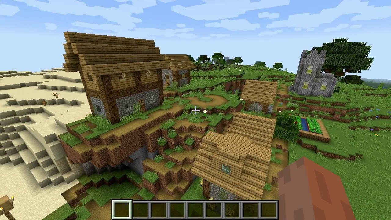 Minecraft 1.14 Seed 103: New type of village and desert ...