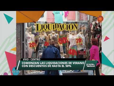 Comenzó la liquidación de verano en el Centro de Córdoba