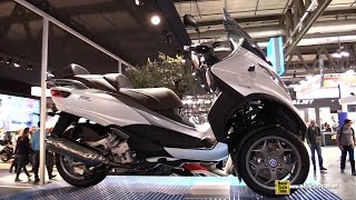 2015 Piaggio MP3 500 Business Scooter - Walkaround - 2014 EICMA Milano Motocycle Exhibition