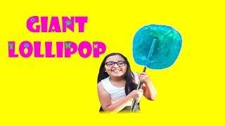 Diy Giant Lollipop! How To Make A 100 Times Bigger Lollipop