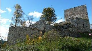 Wanderung Frymburk - Svatý Tomáš, Burgruine Vítkův hrádek