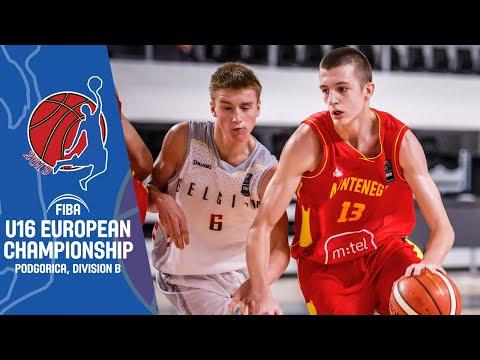 Belgium v Montenegro - Full Game - FIBA U16 European Championship Division B 2019
