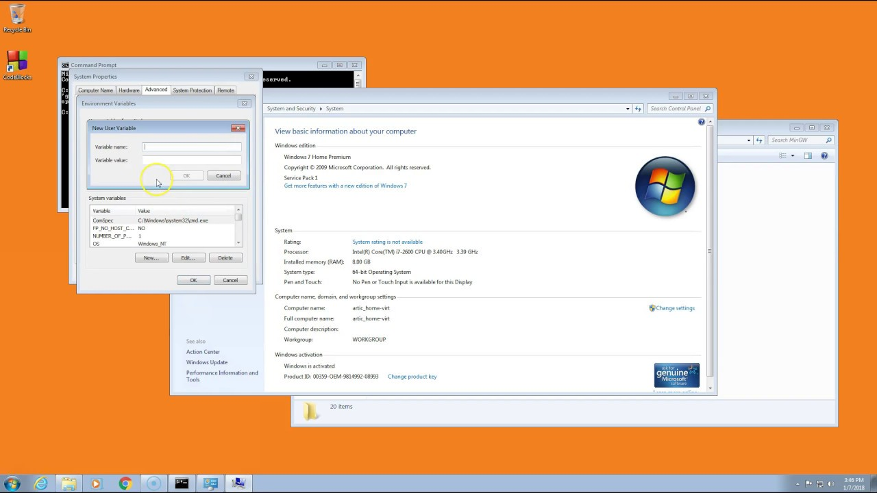 Download Learning 2 Code C :  Setting up PATH in Windows 7