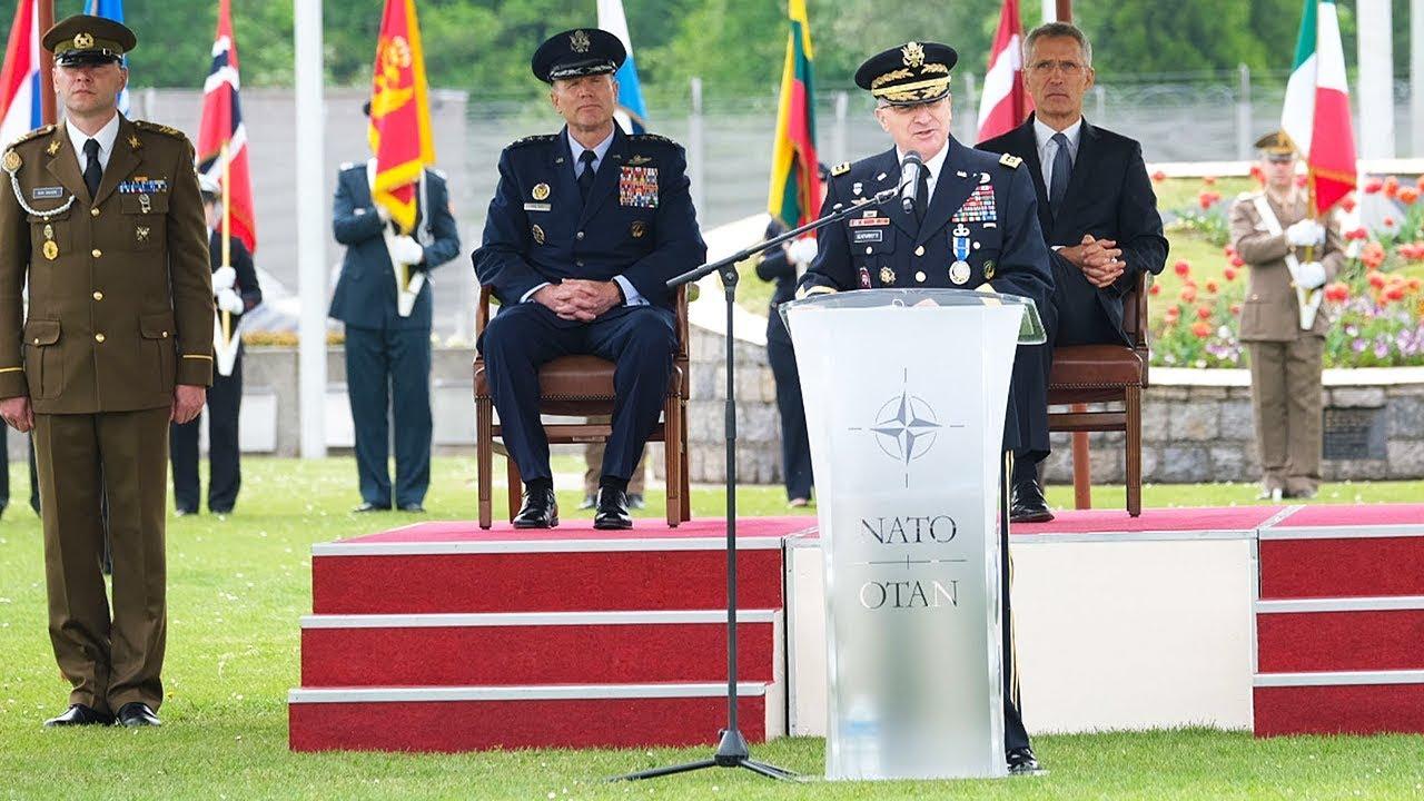 General Scaparrotti visits RAF Lakenheath - YouTube