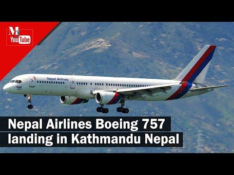 Boeing 757 Landing in Tribhuvan international Airport