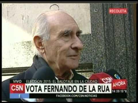 C5N  ELECCION 2015: VOTO FERNANDO DE LA RUA