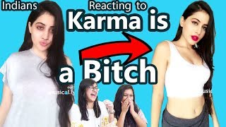 Indians react to the *Karma is a Bitch* Challenge ft. Indian Musically Stars!