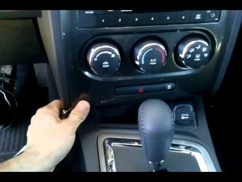 dodge challenger radio panel removal youtube